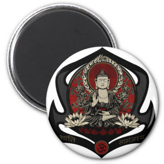 Gautama Buddha 6 Cm Round Magnet