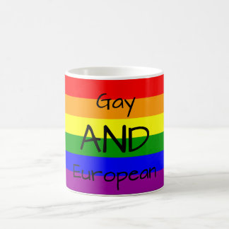 Gay AND European drink mug