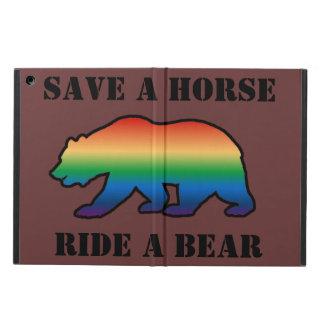 GAY BEAR BEAR PRIDE SAVE A HORSE RIDE A BEAR iPad AIR COVERS