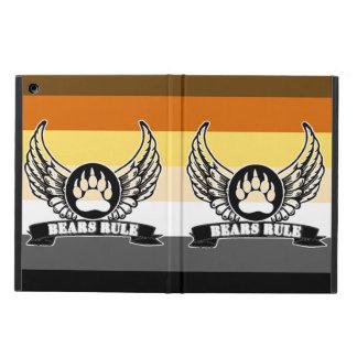 Gay Bear Pride Flag Bears Rule Wing Bear Paw iPad Air Case