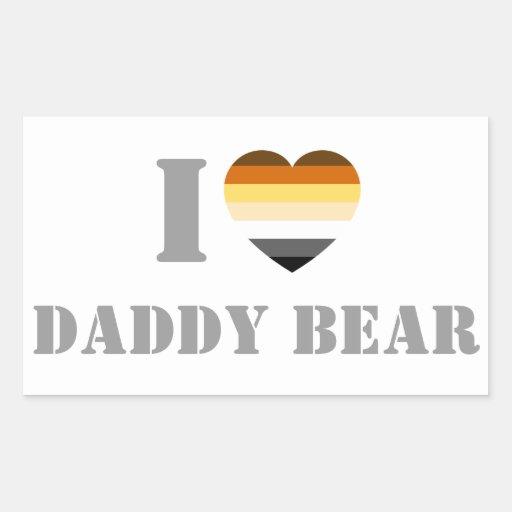 GAY BEAR PRIDE I HEART DADDY BEAR STICKER