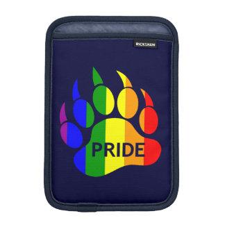Gay Bear Pride Rainbow Pride Bear Paw iPad Mini Sleeves