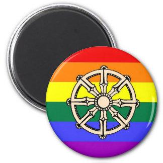 Gay Buddhist Pride 6 Cm Round Magnet