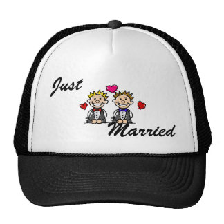 Gay Couple Trucker Hat