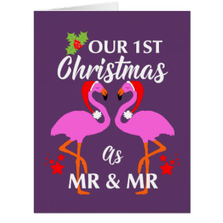 Gay Couples First Christmas As Mr & Mr Card
