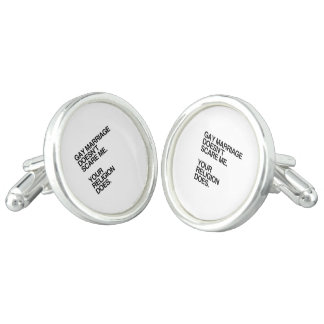 GAY MARRIAGE DOESN'T SCARE ME CUFFLINKS