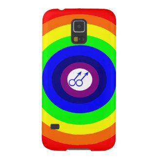 Gay Men Round Rainbow Samsung Galaxy Case
