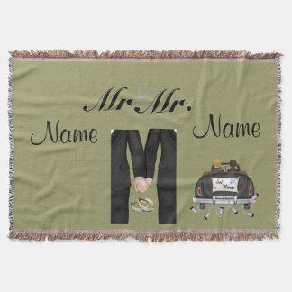 Gay Men's Wedding GIft Blanket Throw Custom