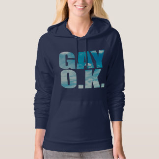 GAY OK cloudy hipster style Hoodie