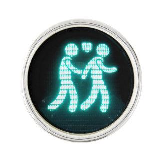 Gay Pedestrian Signal Lapel Pin