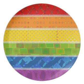 Gay Pride Colors Party Plates