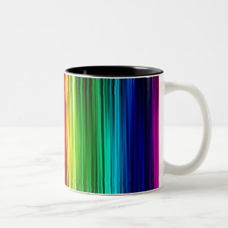 Gay Pride Curtain Two-Tone Coffee Mug