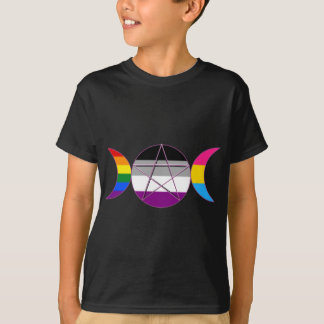 Gay Pride Demisexual Pansexual Goddess Pentacle T-Shirt