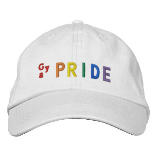 Gay Pride Embroidered Hat