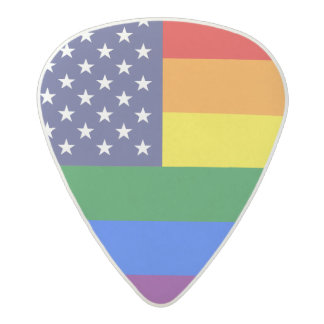 """GAY PRIDE FLAG"" ACETAL GUITAR PICK"