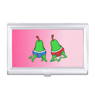 Gay Pride Funny Pears Business Card Holder