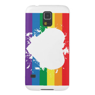 Gay-Pride-Heart-Reversed-Paint Banner Galaxy S5 Cover