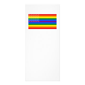 Gay Pride US Flag - Stars and Stripes Rack Card