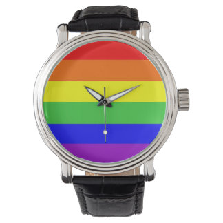 gay proud rainbow flag watch