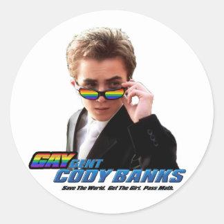 Gay Secret Agent (Gaygent) Circle Sticker