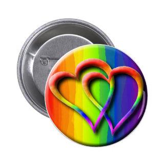 Gay Wedding Hearts Pride Parade LGBT Love 6 Cm Round Badge