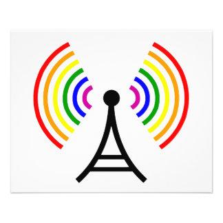Gay WiFi Rainbow Signal Antenna Flyer
