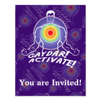 Gaydar! Activate! Rainbow Gay Personalized Invitations