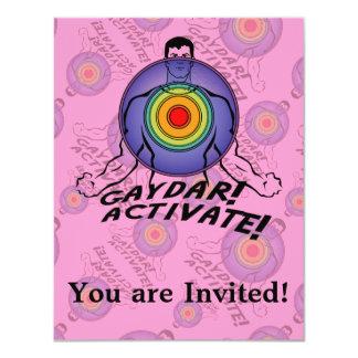 Gaydar! Activate! Rainbow Gay Invitations