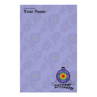 Gaydar! Activate! Rainbow Gay Personalized Stationery