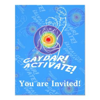 Gaydar! Activate! Rainbow Lesbian Custom Invites