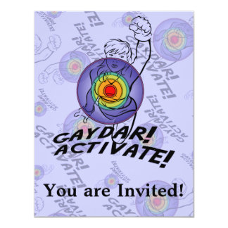 Gaydar! Activate! Rainbow Lesbian Invitation