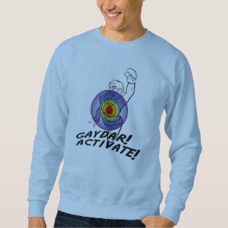 Gaydar! Activate! Rainbow Lesbian Sweatshirt