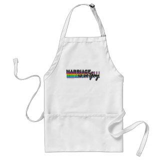 GayMarriageRainbowBar Adult Apron
