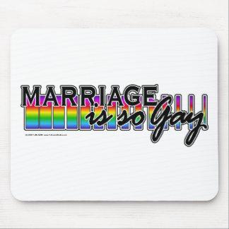 GayMarriageRainbowBar Mouse Pad