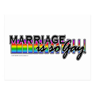 GayMarriageRainbowBar Postcard