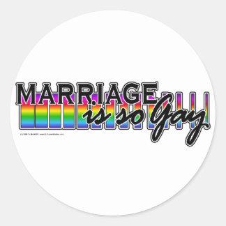 GayMarriageRainbowBar Stickers