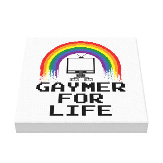 Gaymer for Life Canvas Canvas Print