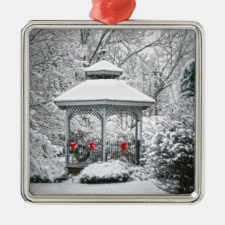Gazebo in the Snow Christmas Ornament