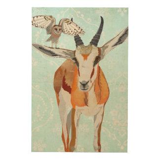 GAZELLE & OWL Wooden Canvas Wood Prints