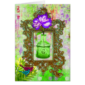 GC | Greenhouse Chic Lime Purple Note Card