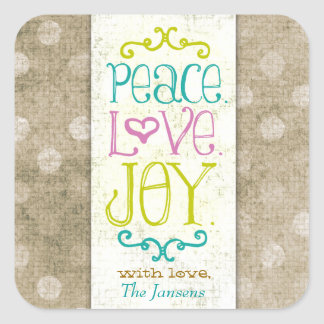 GC Peace Love and Joy Aqua Dots Stickers