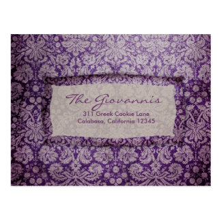 GC | Purple Rapture Vintage RSVP Postcard