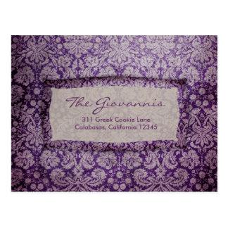 GC   Purple Rapture Vintage RSVP Postcard