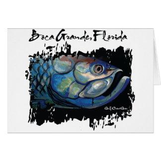 GCG Boca Grande Blue Tarpon Head Card
