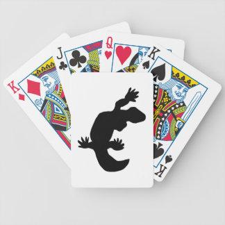 Gecko Silhouette Poker Deck