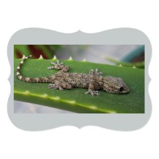 Geckos on Cactus Leave 13 Cm X 18 Cm Invitation Card