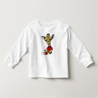 Geek Boy Giraffe Toddler T-Shirt