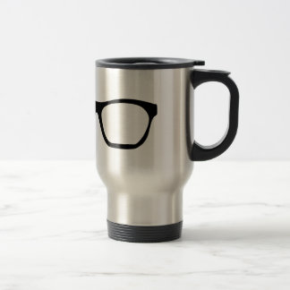 Geek Glasses Stainless Steel Travel Mug
