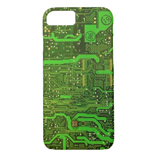 geek microchip pattern iPhone 7 case