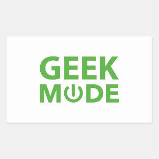 Geek Mode Rectangular Sticker